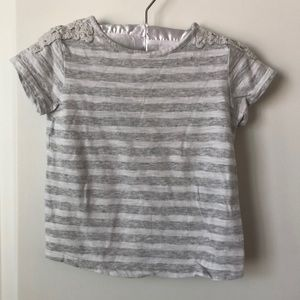 Old Navy Striped Tee - Size 2T - Gray/White